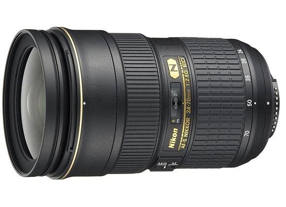Nikon Lens 24-70mm f/2.8 G ED AF-S עדשה ניקון - יבואן רשמי