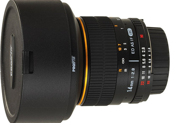 עדשה סאמיאנג Samyang for Pentax 14mm f/2.8 IF ED MC Aspherical