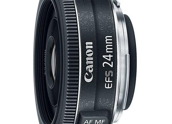 עדשת קנון Canon lens EF-S 24 F2.8 STM קרט יבואן רשמי
