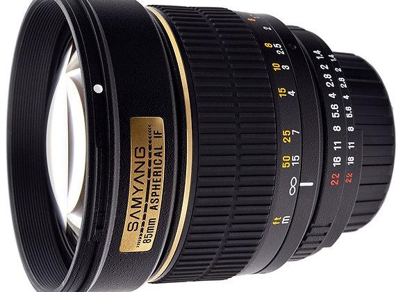 עדשת סאמיאנג Samyang for Nikon 85mm f/1.4 Aspherical IF