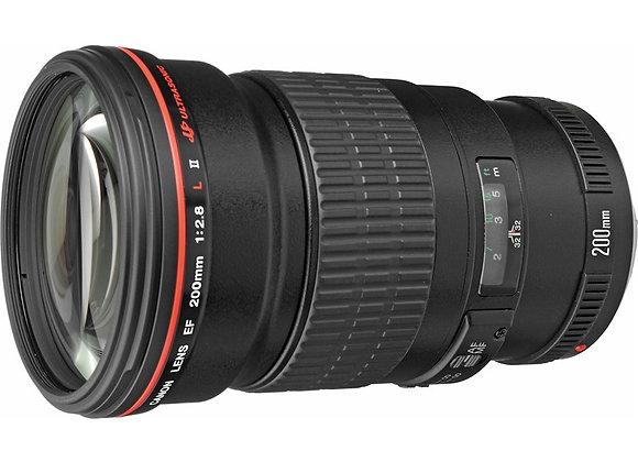 עדשה קנון Canon lens 200mm f/2.8 L II USM