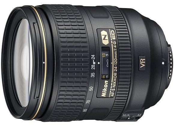 Nikon Lens 24-120mm f/4 G ED AF-S VR עדשה ניקון - יבואן רשמי