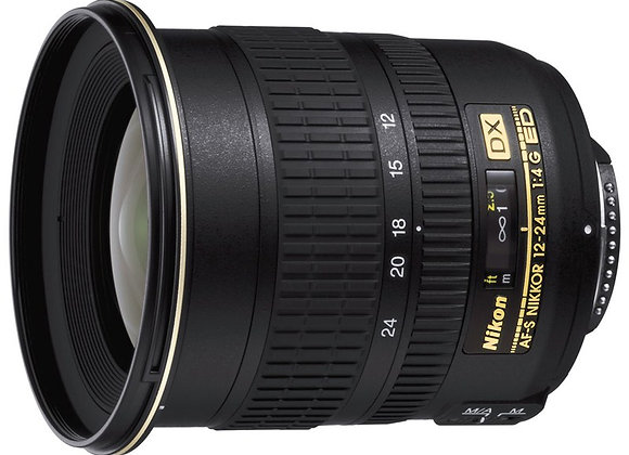 Nikon Lens 12-24mm f/4 G IF-ED AF-S DX עדשה ניקון - יבואן רשמי