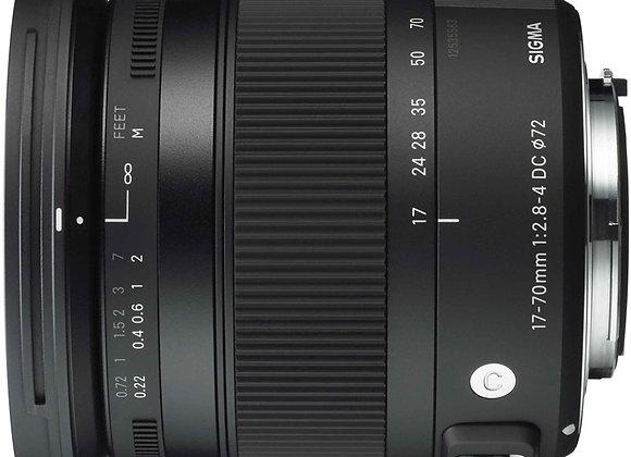 עדשת סיגמא Sigma for Nikon 17-70mm F/2.8-4 DC Macro OS HSM Contemporary