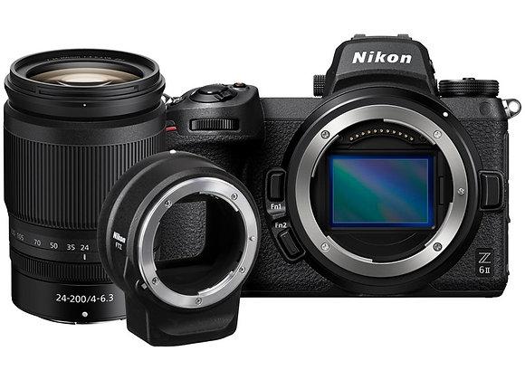 מצלמה חסרת מראה ניקון Nikon Z6II 24-200 + Ftz Kit - קיט