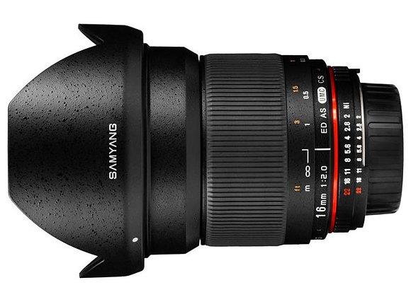 עדשה סאמיאנג Samyang for Pentax 16mm f/2.0 ED AS UMC CS