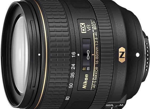 Nikon Lens AF-S DX NIKKOR 16-80mm f/2.8-4E ED VR עדשה ניקון - יבואן רשמי