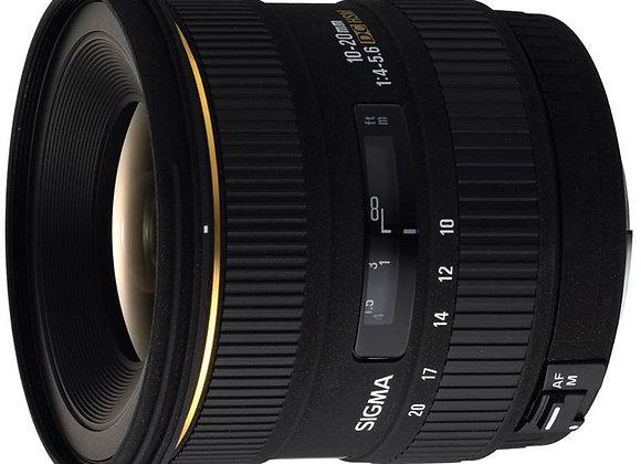 עדשה סיגמה Sigma for Canon 10-20mm F3.5 DC HSM