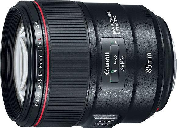 עדשה קנון Canon lens EF 85mm f/1.4L IS USM