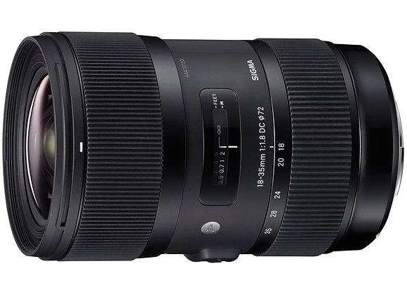 עדשת סיגמה Sigma for Canon 18-35mm F1.8 DC HSM לקנון
