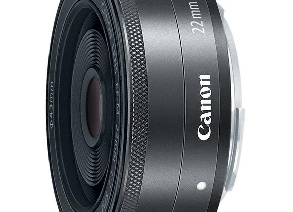 עדשה קנון Canon M lens EF-M 22mm f/2 STM Lens