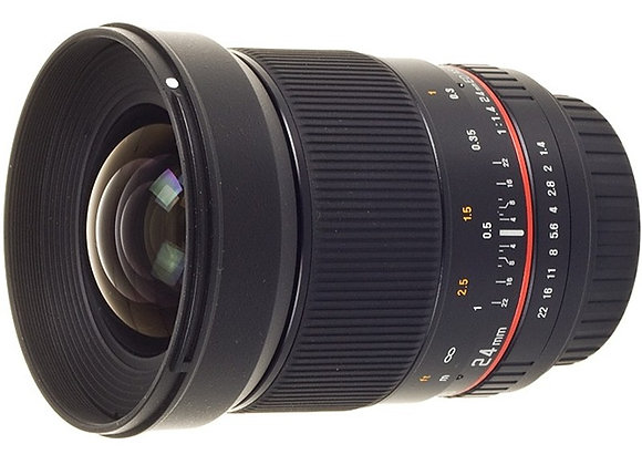 עדשת סאמיאנג Samyang for Pentax 24mm f/1.4 AS UMC