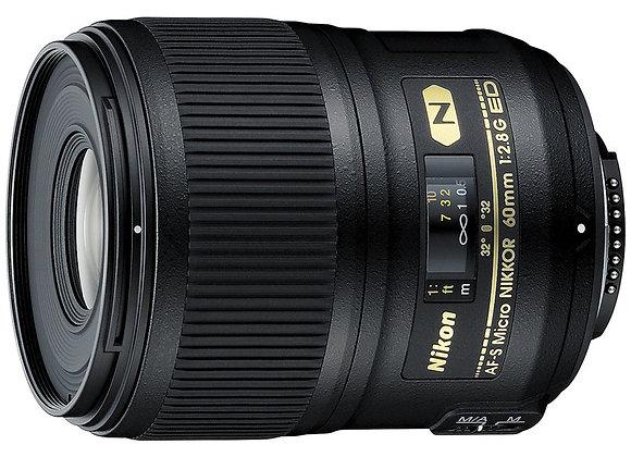 Nikon Lens 60mm Micro f/2.8 G AF-S ED עדשה ניקון - יבואן רשמי