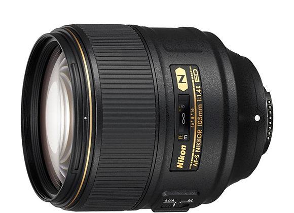 Nikon Lens 105mm 1.4 E AF-S FX עדשה ניקון - יבואן רשמי