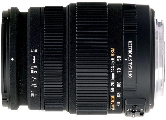 עדשה סיגמה Sigma for Canon 50-200mm F4-5.6 OS HSM