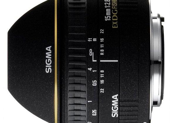 עדשה סיגמה Sigma for Nikon 15mm F2.8 EX DG