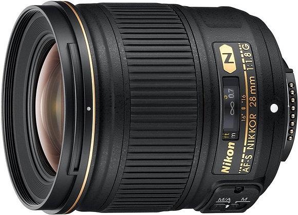 Nikon Lens 28mm f/1.8G AF-S עדשה ניקון - יבואן רשמי