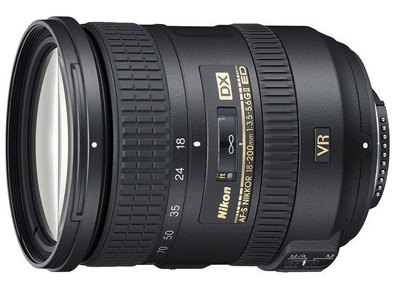 Nikon Lens 18-200mm f/3.5-5.6 G IF ED AF-S DX VR II עדשה ניקון - יבואן רשמי