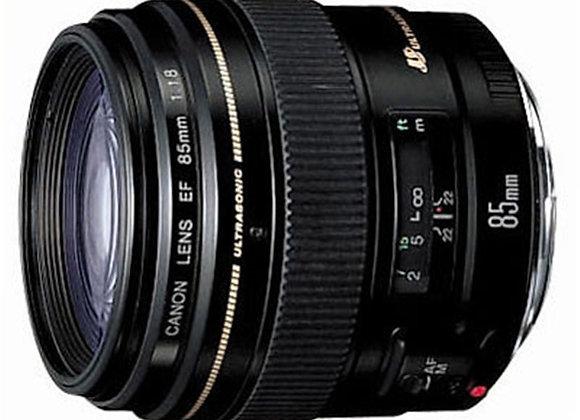 עדשה קנון Canon lens 85mm f/1.8 usm