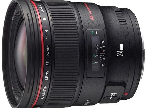 עדשת קנון Canon lens EF 24mm f/1.4L USM