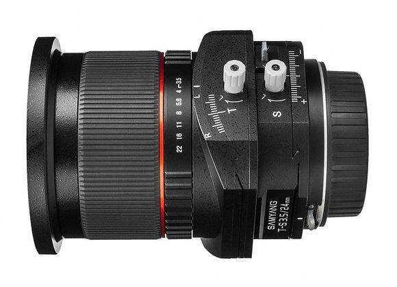 עדשה סאמיאנג Samyang for Canon 24mm T-S F/3.5 ED AS UMC Tilt/Shift