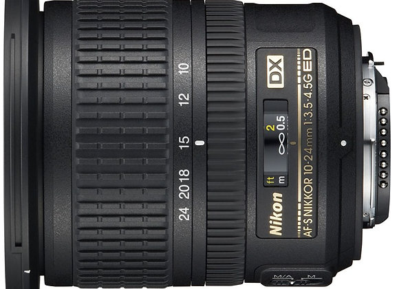 Nikon Lens 10-24mm f/3.5-4.5 AF-S עדשה ניקון - יבואן רשמי