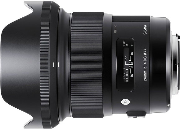 עדשה סיגמא Sigma for Nikon 24mm f/1.4 DG HSM Art