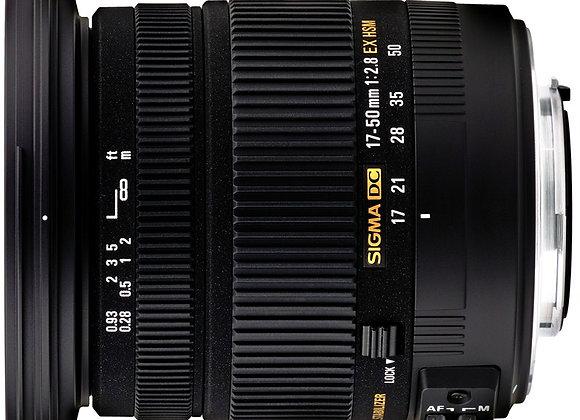 עדשת סיגמא Sigma for Canon 17-50mm 2.8 DC OS HSM