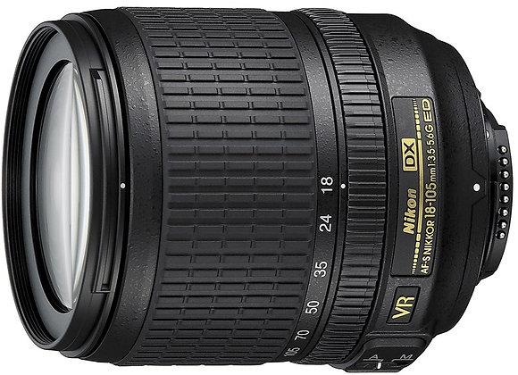 Nikon Lens 18-105mm f/3.5-5.6 G ED VR AF-S DX עדשה ניקון - יבואן רשמי