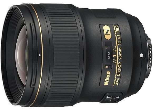 Nikon Lens AF-S NIKKOR 28mm f/1.4E ED עדשה ניקון - יבואן רשמי