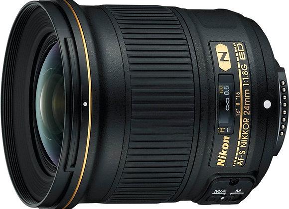 Nikon Lens AF-S NIKKOR 24mm f/1.8G ED עדשה ניקון - יבואן רשמי