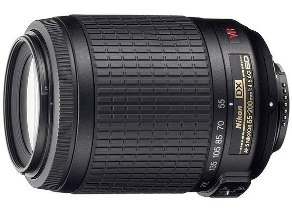 Nikon Lens 55-200mm f/4-5.6 G ED VR עדשה ניקון - יבואן רשמי