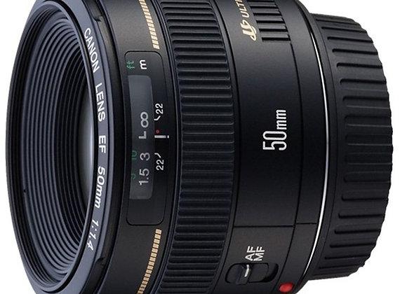 עדשת קנון Canon lens 50mm F/1.4 USM