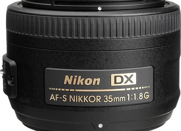 Nikon Lens 35mm f/1.8 G AF-S DX עדשה ניקון - יבואן רשמי