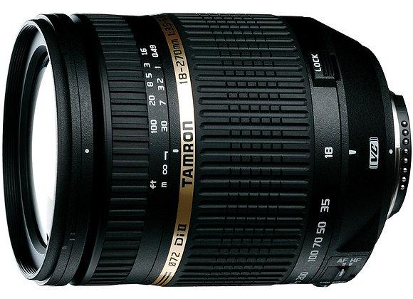 עדשת טמרון Tamron for Nikon 18-270mm F/3.5-6.3 Di II VC PZD - יבואן רשמי