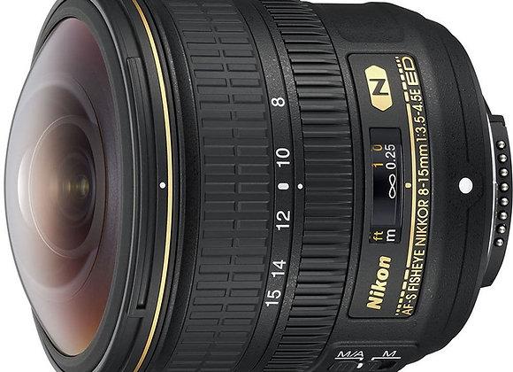 Nikon Lens AF-S Fisheye NIKKOR 8-15mm f/3.5-4.5E ED עדשה ניקון - יבואן רשמי