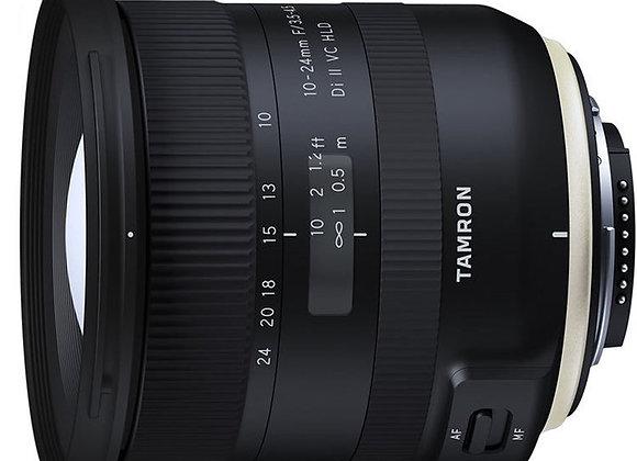 עדשת טמרון Tamron for Canon 10-24mm f/3.5-4.5 Di II VC HLD - יבואן רשמי
