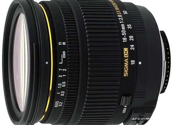 עדשה סיגמא Sigma for Canon 18-50mm F2.8 EX DC MACRO hsm