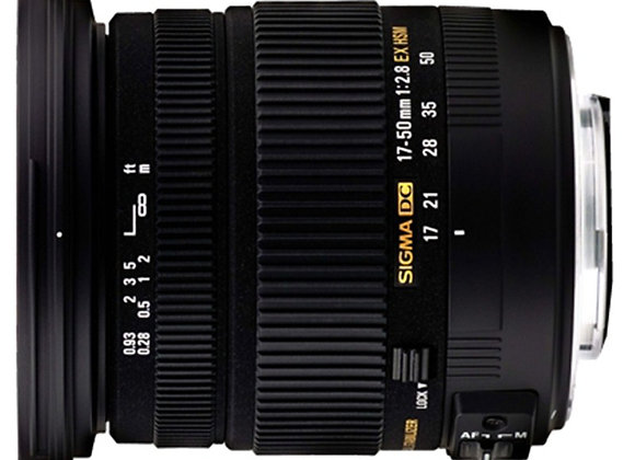 עדשת סיגמה Sigma for Nikon 17-50mm 2.8 DC OS HSM