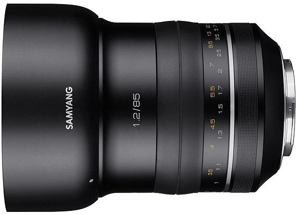 עדשת סאמיאנג Samyang for Canon XP 85mm F1.2