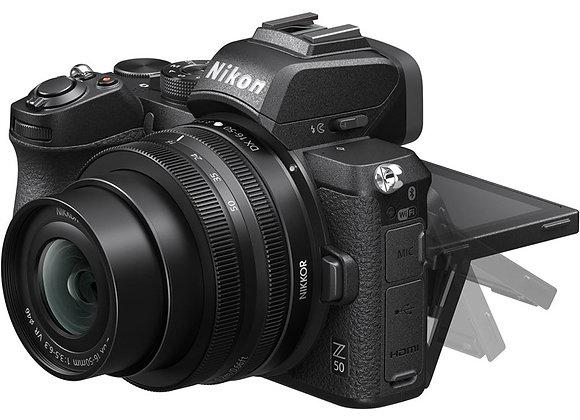 NIKON Z50+16-50 VR DX + FTZ - קיט MIRRORLESS מצלמת ניקון - יבואן רשמי