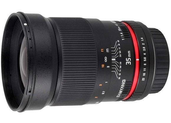 עדשה סאמיאנג Samyang for Pentax 35mm f/1.4 AS UMC