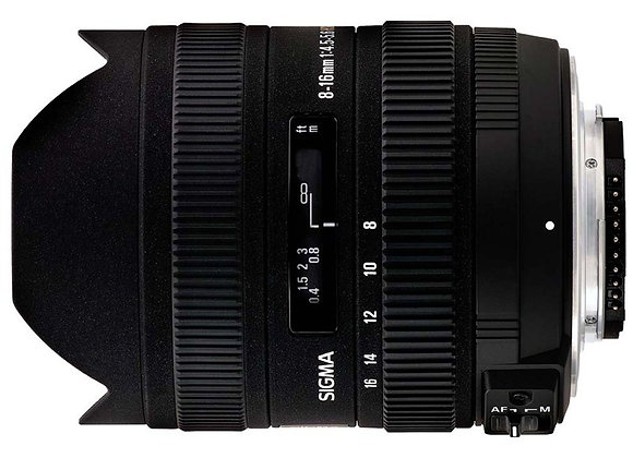 עדשת סיגמה Sigma for Nikon 8-16mm F4.5-5.6 DC HSM
