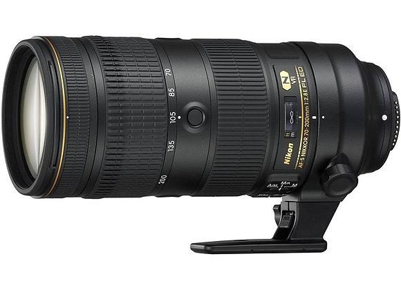 Nikon Lens AF-S NIKKOR 70-200mm f/2.8E FL ED VR עדשה ניקון - יבואן רשמי