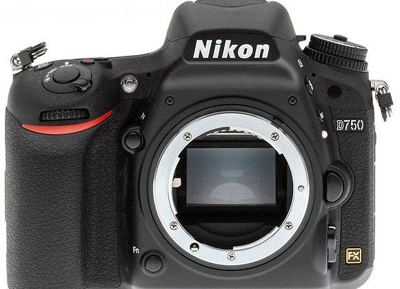 Nikon D750 גוף בלבד DSLR מצלמת ניקון - יבואן רשמי