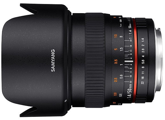 עדשה סאמיאנג Samyang for Nikon 50mm F1.4 AS UMC