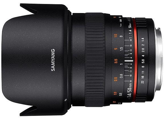 עדשת סאמיאנג Samyang for Pentax 50mm F1.4 AS UMC
