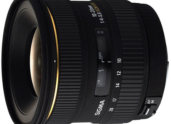 עדשת סיגמה Sigma for Nikon 10-20mm f3.5 EX DC HSM