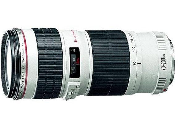 עדשה קנון Canon lens 70-200mm f/4 L USM