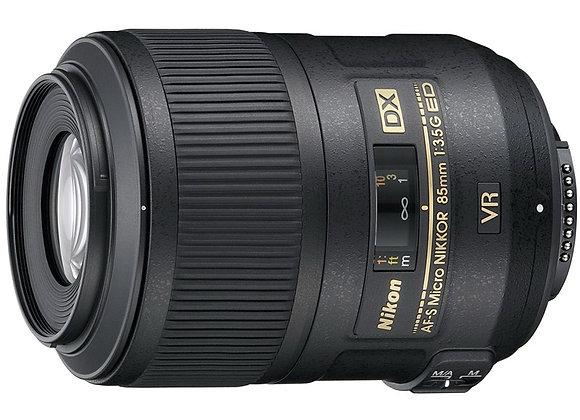 Nikon Lens 85mm f/3.5 G AF-S DX Micro ED VR עדשה ניקון - יבואן רשמי
